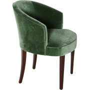 ART DÉCO green velvet chair - Furniture -