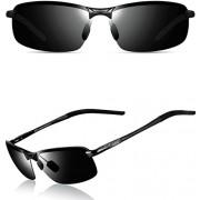 ATTCL Men's Ultralight Al Mg Frame Driving Polarized Rectangular Sunglasses Al-Mg Metal Frame Ultra Light - Eyewear - $38.00