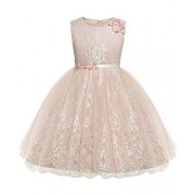 Abaowedding Flower Toddler Girl Dress Petals Bowknot Princess Wedding Party Gown - Dresses - $20.99