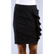 Above the Knee Tiered Ruffle Skirt - ( Choose Gray or Black ) Black - Skirts - $19.99