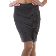 Above the Knee Tiered Ruffle Skirt - ( Choose Gray or Black ) Gray - Skirts - $19.99