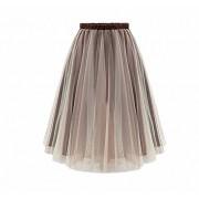 Afibi Women Mid Tulle Tutu Ballet Ruffle Bridal Petticoat Princess Overlay Skirt - Skirts - $9.99