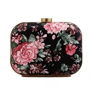 Afibi Womens Patent Leather Flower Retro Clutch Evening Bag Purse - Bolsas pequenas - $16.44  ~ 14.12€