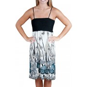 Alki'i Butterfly Goodness Silky smooth summer beach tube dress Grey - Dresses - $24.99