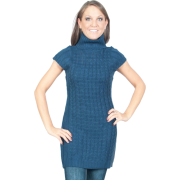 Alki'i Cap sleeve Turtleneck sweater dress- 4 colors Black - Dresses - $29.99