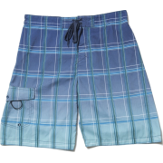 Alki'i Men's Hybrid Boardshorts - Checkered Print Navy - Shorts - $19.99