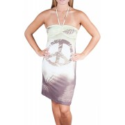 Alki'i Peace Print Sublimation Casual Evening Party Cocktail Sun Dress - Dresses - $29.99