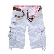 Allonly Men's Fashion Casual Cotton Relaxed Fit Multi-Pocket Cargo Shorts Under Knee - Hlače - kratke - $29.99  ~ 25.76€