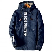 Allonly Men's Fashion Cotton Hoodie Jacket Invisible Zip-up Windbreaker Jacket - Outerwear - $36.71