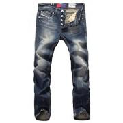 Allonly Men's Stylish Casual Slim Fit Straight Leg Jeans Pants - Pants - $34.99