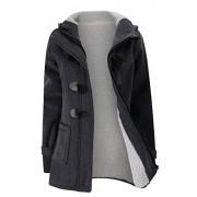 Allonly Women's Cotton Berber Fleece Lining Zip-Up Buckle Thicken Jacket Coat Hoodie - Outerwear - $27.99