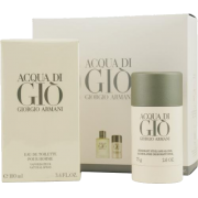 ACQUA DI GIO by Giorgio Armani Cologne Gift Set for Men (SET-EDT SPRAY 3.4 OZ & ALCOHOL FREE DEODORA - Fragrances - $82.00