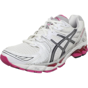 ASICS Women's GEL-Kayano 17 Running Shoe White/Carbon/Magenta - Sneakers - $88.97