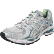 ASICS Women's GEL-Kayano 17 Running Shoe White/Silver/Turquoise - Sneakers - $88.97