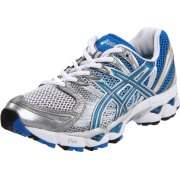 ASICS Women's GEL-Nimbus 12 Running Shoe Titanium/Maui Blue/Lightning - Sneakers - $74.95