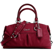 Authentic Coach Patent Leather Ashley Satchel Tote Bag 15455 Garnet Red - Torby - $285.00  ~ 244.78€