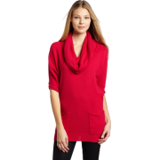 BCBGMAXAZRIA Women's Aspen Saddle Sleeve Tunic Top Sangria - Top - $139.99