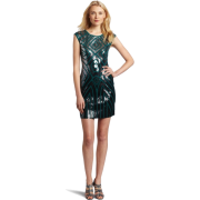 BCBGMAXAZRIA Women's Pat Dress Jewel Green - Dresses - $398.00