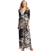 BCBGMAXAZRIA Women's Pearl Wrap Maxi Dress Soy Chai Combo - Dresses - $238.00