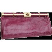 BCBG Women's Croco Oversize Lady XlA030LE Clutch Merlot - Clutch bags - $185.99