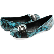 BCBGeneration Dinia Turquoise Snake Loafer Shoes - Moccasins - $49.00