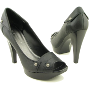 BCBGeneration Russell Black Heels Shoes Womens 9.5 - Platforms - $110.00