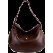 BRUNO ROSSI Italian Brown Leather Shoulder Bag Cross-body Hobo Bag - Bolsas - $439.00  ~ 377.05€