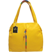 BRUNO ROSSI Italian Designer Shoulder Bag Handbag in Yellow Leather - Hand bag - $459.00