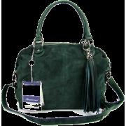 BRUNO ROSSI Italian Green Suede & Leather Convertible Shoulder Bag Handbag Purse - Bolsas pequenas - $479.00  ~ 411.41€