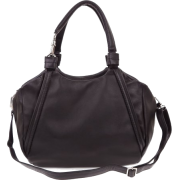 BRUNO ROSSI Italian Made Black Calf Leather Handbag - Hand bag - $489.00