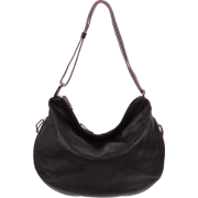 BRUNO ROSSI Italian Made Black Calf Leather Hobo Bag - Bag - $489.00