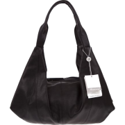 BRUNO ROSSI Italian Made Black Calf Leather Hobo Bag - Bag - $495.00