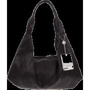 BRUNO ROSSI Italian Made Black Calf Leather Hobo Bag - Bolsas - $495.00  ~ 425.15€