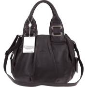 BRUNO ROSSI Italian Made Black Calf Leather Satchel Shoulder Bag - Bag - $489.00