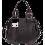 BRUNO ROSSI Italian Made Black Calf Leather Satchel Shoulder Bag - Bolsas - $489.00  ~ 419.99€