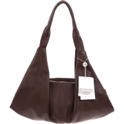 BRUNO ROSSI Italian Made Brown Calf Leather Hobo Bag - Bag - $495.00