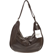 BRUNO ROSSI Italian Made Dark Brown Calf Leather Large Hobo Crossbody Bag - Bag - $469.00