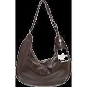 BRUNO ROSSI Italian Made Dark Brown Calf Leather Large Hobo Crossbody Bag - Bolsas - $469.00  ~ 402.82€