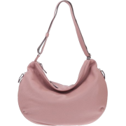 BRUNO ROSSI Italian Made Dusty Rose Deerskin Leather Hobo Bag - Bag - $529.00