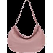 BRUNO ROSSI Italian Made Dusty Rose Deerskin Leather Hobo Bag - Bolsas - $529.00  ~ 454.35€