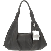 BRUNO ROSSI Italian Made Gray Calf Leather Hobo Bag - Bag - $495.00
