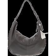 BRUNO ROSSI Italian Made Gray Calf Leather Large Hobo Crossbody Bag - Bolsas - $469.00  ~ 402.82€