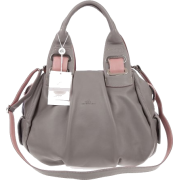 BRUNO ROSSI Italian Made Gray Calf Leather Satchel Shoulder Bag - Bag - $489.00