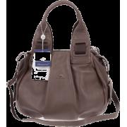 BRUNO ROSSI Italian Made Taupe Calf Leather Satchel Shoulder Bag - Bolsas - $489.00  ~ 419.99€
