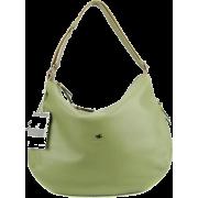 BRUNO ROSSI Italian Sage Leather Shoulder Bag Cross-body Hobo Bag - Bolsas - $439.00  ~ 377.05€