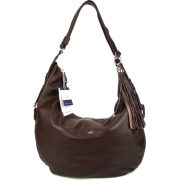 BRUNO ROSSI Italian Shoulder Bag Crossbody Hobo Bag in Brown Leather - Bag - $495.00