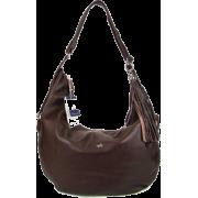 BRUNO ROSSI Italian Shoulder Bag Crossbody Hobo Bag in Brown Leather - Bolsas - $495.00  ~ 425.15€