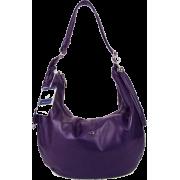 BRUNO ROSSI Italian Shoulder Bag Crossbody Hobo Bag in Purple Leather - Bolsas - $495.00  ~ 425.15€