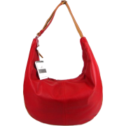 BRUNO ROSSI Italian Shoulder Bag Cross-body Hobo Bag in Red Leather - Bag - $429.00