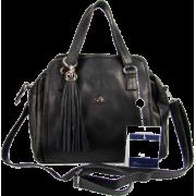 BRUNO ROSSI Italian Shoulder Bag Handbag Purse in Black Leather - Bolsas pequenas - $469.00  ~ 402.82€